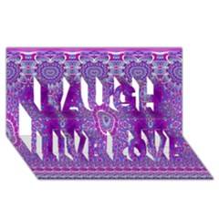 India Ornaments Mandala Pillar Blue Violet Laugh Live Love 3d Greeting Card (8x4) by EDDArt