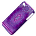 India Ornaments Mandala Pillar Blue Violet Apple iPhone 4/4S Hardshell Case (PC+Silicone) View4