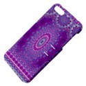 India Ornaments Mandala Pillar Blue Violet Apple iPhone 5 Hardshell Case with Stand View4