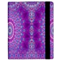 India Ornaments Mandala Pillar Blue Violet Samsung Galaxy Tab 10.1  P7500 Flip Case View3