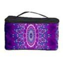 India Ornaments Mandala Pillar Blue Violet Cosmetic Storage Case View1