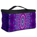 India Ornaments Mandala Pillar Blue Violet Cosmetic Storage Case View2