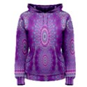 India Ornaments Mandala Pillar Blue Violet Women s Pullover Hoodie View1