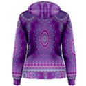India Ornaments Mandala Pillar Blue Violet Women s Pullover Hoodie View2