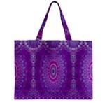 India Ornaments Mandala Pillar Blue Violet Zipper Mini Tote Bag