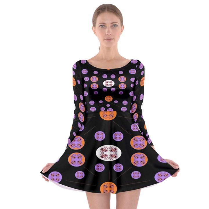 Alphabet Shirtjhjervbret (2)fvgbgnhlluuii Long Sleeve Skater Dress