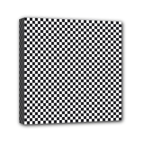 Sports Racing Chess Squares Black White Mini Canvas 6  X 6