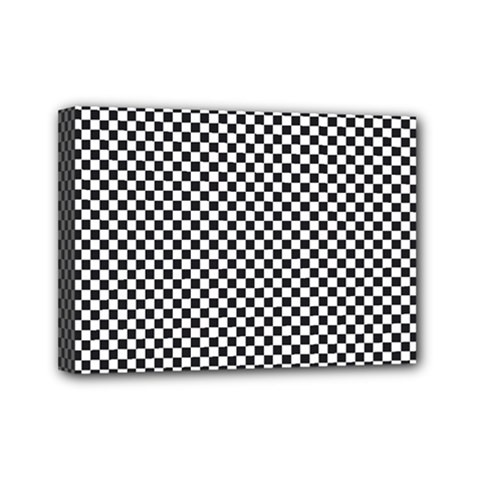 Sports Racing Chess Squares Black White Mini Canvas 7  X 5