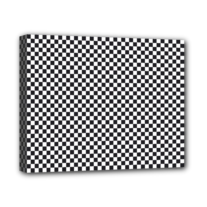 Sports Racing Chess Squares Black White Canvas 10  x 8