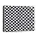 Sports Racing Chess Squares Black White Canvas 14  x 11  View1