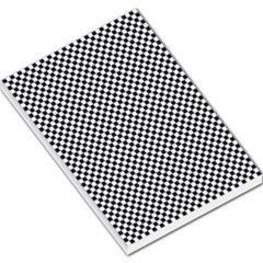 Sports Racing Chess Squares Black White Large Memo Pads by EDDArt