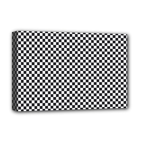 Sports Racing Chess Squares Black White Deluxe Canvas 18  X 12