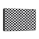 Sports Racing Chess Squares Black White Deluxe Canvas 18  x 12   View1