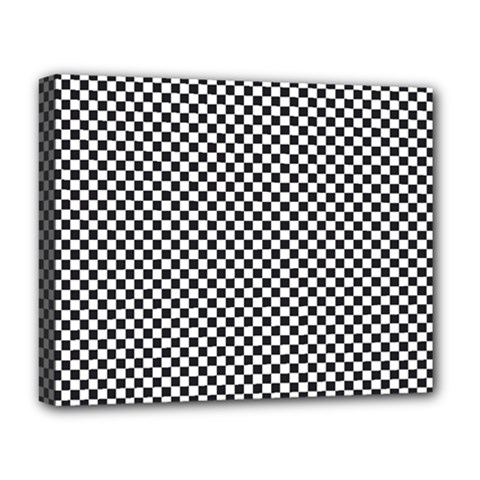 Sports Racing Chess Squares Black White Deluxe Canvas 20  X 16   by EDDArt