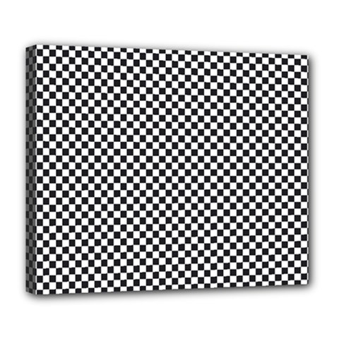 Sports Racing Chess Squares Black White Deluxe Canvas 24  X 20