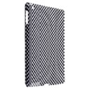 Sports Racing Chess Squares Black White Apple iPad 3/4 Hardshell Case (Compatible with Smart Cover) View2