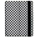 Sports Racing Chess Squares Black White Apple iPad 2 Flip Case View2