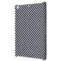 Sports Racing Chess Squares Black White Apple iPad Mini Hardshell Case View3
