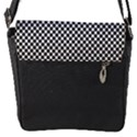 Sports Racing Chess Squares Black White Flap Messenger Bag (S) View1