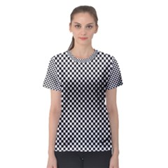 Sports Racing Chess Squares Black White Women s Sport Mesh Tee