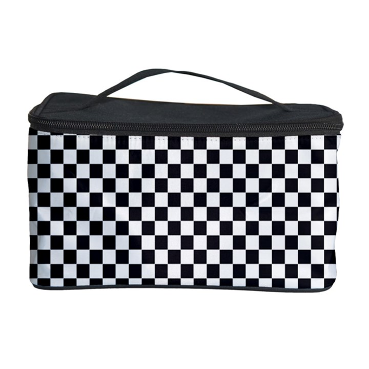 Sports Racing Chess Squares Black White Cosmetic Storage Case