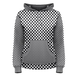 Sports Racing Chess Squares Black White Women s Pullover Hoodie by EDDArt