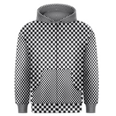Sports Racing Chess Squares Black White Men s Zipper Hoodie