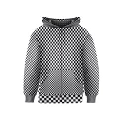 Sports Racing Chess Squares Black White Kids  Zipper Hoodie by EDDArt