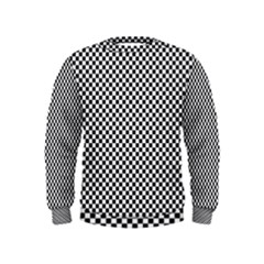 Sports Racing Chess Squares Black White Kids  Sweatshirt by EDDArt