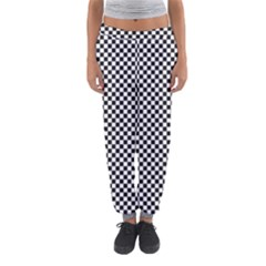 Sports Racing Chess Squares Black White Women s Jogger Sweatpants