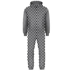 Sports Racing Chess Squares Black White Hooded Jumpsuit (men)  by EDDArt