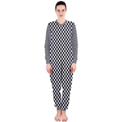 Sports Racing Chess Squares Black White Onepiece Jumpsuit (ladies)  by EDDArt