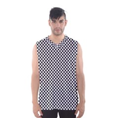 Sports Racing Chess Squares Black White Men s Basketball Tank Top