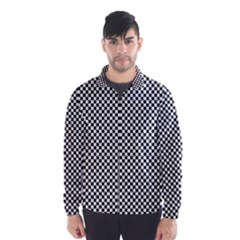 Sports Racing Chess Squares Black White Wind Breaker (men)