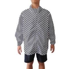 Sports Racing Chess Squares Black White Wind Breaker (kids) by EDDArt