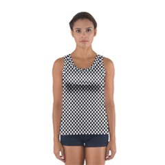 Sports Racing Chess Squares Black White Women s Sport Tank Top