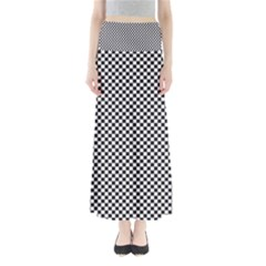Sports Racing Chess Squares Black White Maxi Skirts by EDDArt