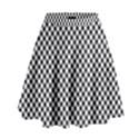 Sports Racing Chess Squares Black White High Waist Skirt View1