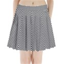 Sports Racing Chess Squares Black White Pleated Mini Skirt View1