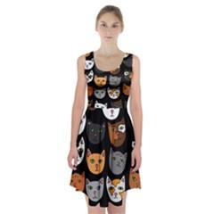 Cats Racerback Midi Dress
