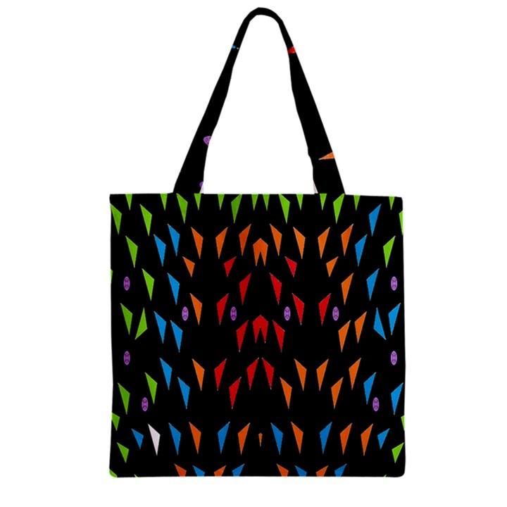 ;; Zipper Grocery Tote Bag