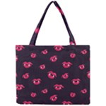 Pattern Of Vampire Mouths And Fangs Mini Tote Bag