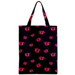 Pattern Of Vampire Mouths And Fangs Classic Tote Bag by CreaturesStore