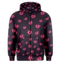 Pattern Of Vampire Mouths And Fangs Men s Zipper Hoodie View1