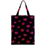 Pattern Of Vampire Mouths And Fangs Zipper Classic Tote Bag