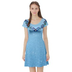 Cinderella Butterflies Short Sleeve Skater Dress