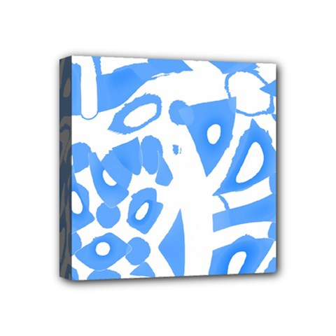 Blue Summer Design Mini Canvas 4  X 4