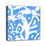 Blue summer design Mini Canvas 6  x 6