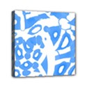 Blue summer design Mini Canvas 6  x 6  View1