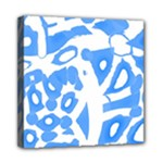 Blue summer design Mini Canvas 8  x 8